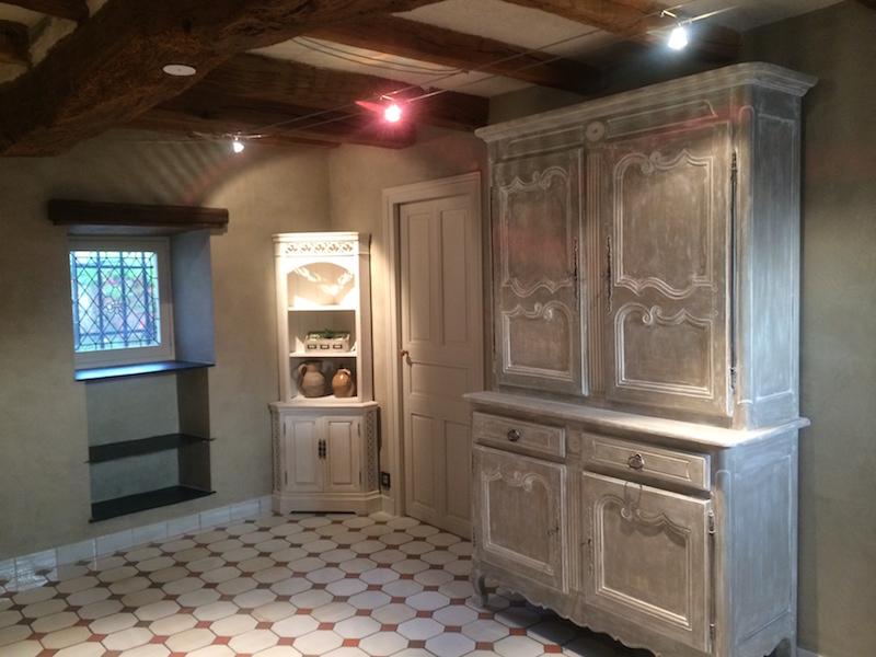 Salon mur marmorino